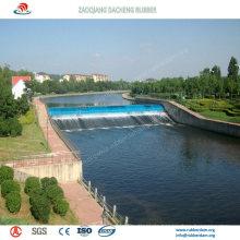 Selbstregulierendes aufblasbares Gummiwasser-Tor für Wasser-Erhaltungsprojekt