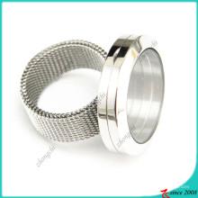 Aço inoxidável vivendo medalhão anel para atacado