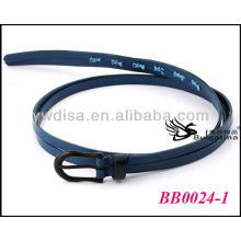 Navy Italian Skinny Leather Belts Wholesale With Size1.85*89.5cm BB0024-1
