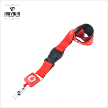 Custom Full Color Printing Polyester Neck Lanyard with Pull Reel