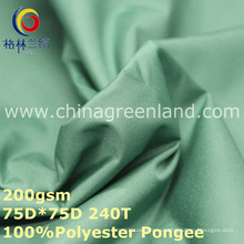 PVC Polyester Pongee Coating Combined Fabric for Textile Uniform (GLLML258)