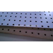 Melamine mdf peg tablero perforado de pared mdf