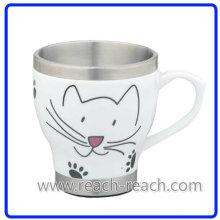 Doppelwand Keramik Kaffeetasse (R-3065)