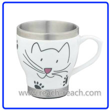 Double Wall Ceramic Coffee Cup (R-3065)