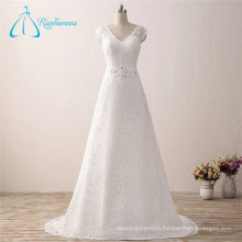 Beading Crystal Sequined Lace Summer Wedding Dress