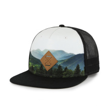 Sublimations-Snapback-Hut-PU-Patch mit geprägtem Logo