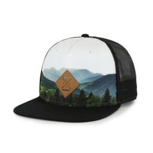 Parche de PU de sombrero snapback de sublimación con logotipo grabado