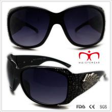Plastic Ladies Sunglasses with Rhinestone (WSP508359)