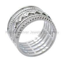 925 bijoux en argent bijoux de mode, anneau incrusté (KR3099)