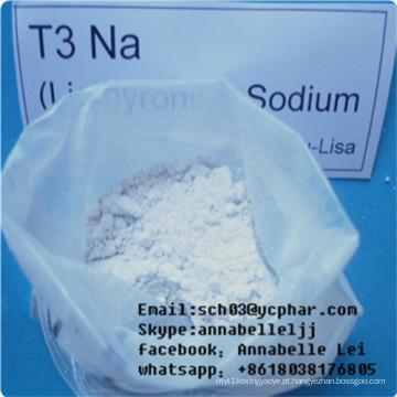 Pó de perda de gordura T3 L-Triiodotironina para transtornos depressivos CAS 55-06-1