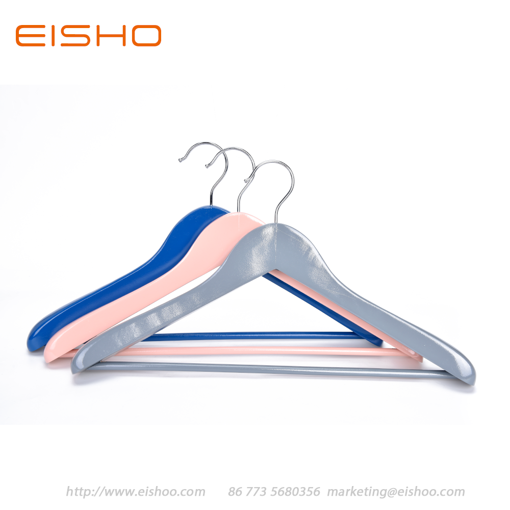 8 Eisho Colorful Wood Suit Coat Hanger