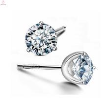 Crystal S925 Sterling Silver Zirconia Cz Stud Earrings