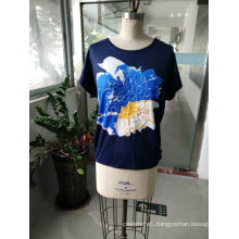 Summer Latest Fashion Loose Cotton Women T-Shirt Clothes