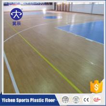 Esteira de pavimentação usada do assoalho do campo de básquete do PVC do revestimento interno