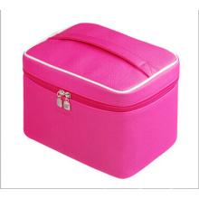 Le sac à main de sac cosmétique rose vif (hx-q081)