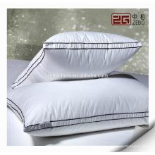 Fábrica de Design de Luxo Diretamente Feito Atacado Branco Goose Down Pillows