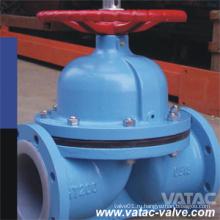 Проходной мембранный клапан BS / DIN с прямым сквозным проходом / Weir Rubber / PTFE