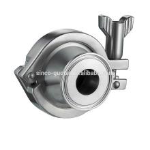 304 316L de aço inoxidável sem válvula de retorno