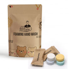 Easy to use foaming hand soap tablet for hand wash
