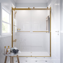 Seawin modern Style Multi hardware finishes option stainless steel Pulley Sliding Shower Door