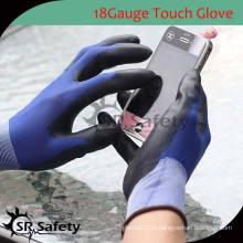SRSAFETY 18 перчаток для смартфона с нейлоном pu / перчатки для мобильных телефонов