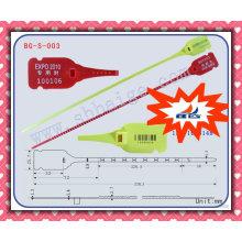 Selo de plástico ajustável BG-S-003, selo de plástico de torção