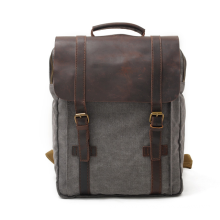 China Online Shopping High Quality  New Leisure Leather Backpack Travel Laptop Backpack Casual Vintage Backpack