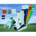 De punto de algodón suave hombres largos calcetines deportivos