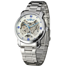 personlized men watch alloy case with stainless steel band