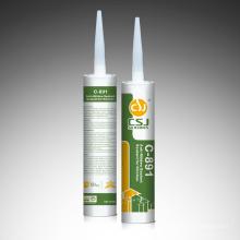 Selante de silicone C-891 RTV com desempenho anti-mofo usado na cozinha e no banheiro