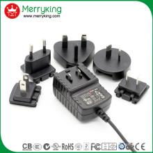 5V2a Adaptateur interchangeable UL FCC SAA PSE GS DOE VI Niveau Efficacité énergétique