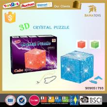 Brinquedo do cubo do maggi da inteligência do enigma 3D Crystal