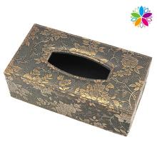 Boîte en tissu en cuir design fleur (ZJH078)