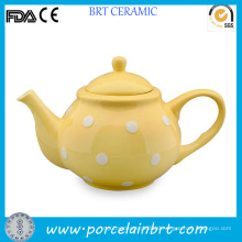 High Quality Yellow Dotted Teapot