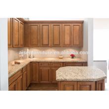 Gabinete de cocina de madera maciza de roble clásico popular para el mercado americano
