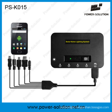 Rechargeable 5200mAh Lithium Solar Power for Lighting System with Phone Charging