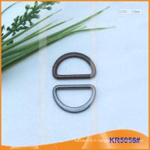 Boucles métalliques en métal de 20 mm, régulateur métallique, anneau en D en métal KR5056