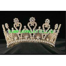 gold round tiara