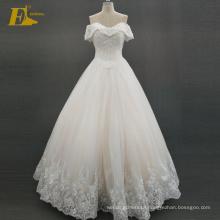 ED Bridal Elegant Off Shoulder Lace-Up Back Beaded Alibaba Wedding Dress 2017