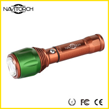 Button Control Switch Aluminium Zoomable Taschenlampe (NK-06)