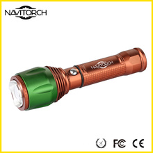 Button Control Switch Aluminum Zoomable Flashlight  (NK-06)