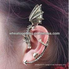 Boucles d'oreilles à manchette à oreilles à oreilles Dragon Ear Clip Jewelry EC03