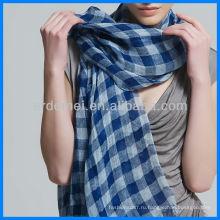 Покрытый пряжа сетчатый сетчатый льняной шарф