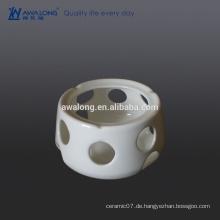 Custom Bone China Hohe Helligkeit White Plain Fine Keramik Topfhalter