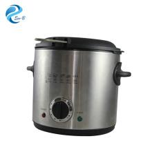 OEM Neueste Küche 1.0L Mini Silver Electric Home Gebrauchte Fritteuse Mit Thermostat
