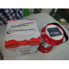 Plastic ABS/Transparent PC high lumens led lantern camping yellow solar lantern
