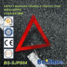 Sinal de aviso do triângulo do tráfego reflexivo da segurança