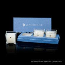 Quadratisches transparentes Glas-Glas-Kerzen-Geschenk