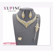 A01-Xuping bijoux en gros derniers bijoux de luxe style ensemble avec plaqué or 18 carats