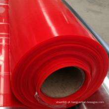 Folha da borracha de silicone da cor vermelha do preço de fábrica, obscuridade - folha do silicone da cor vermelha